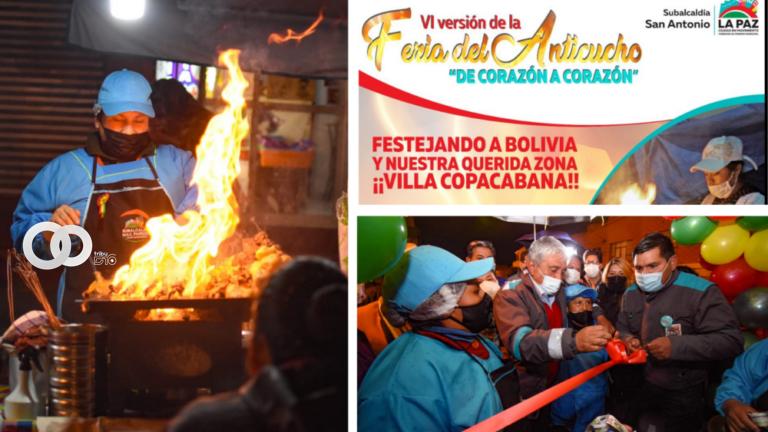 """La Paz: en Villa Copacabana se instaló la feria del anticucho """"Corazón a Corazón"""""""