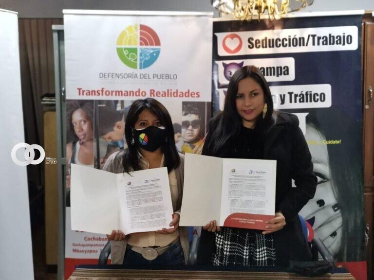 Convenio para defensa de la mujer entre la Defensoría del Pueblo y Voces Libres