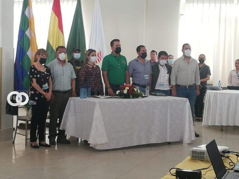 Municipios de Beni firman compromiso para reestablecer bajas coberturas de vacunacion contra el Sarampión, Rubeola y Poliomielitis