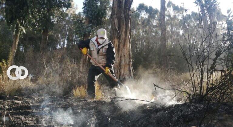 Bomberos de La Paz lograron sofocar el fuego ocurrido en el Bosquecillo de Pura Pura