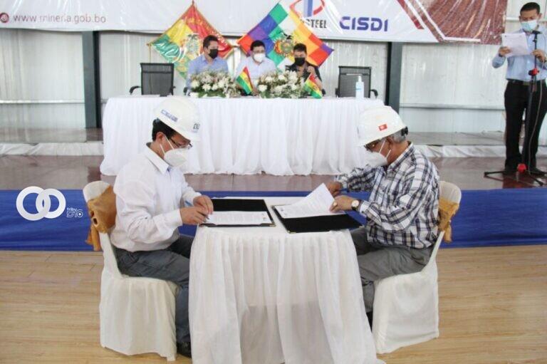 ENDE y la Empresa Siderúrgica del Mutún firmaron un convenio marco de cooperación interinstitucional