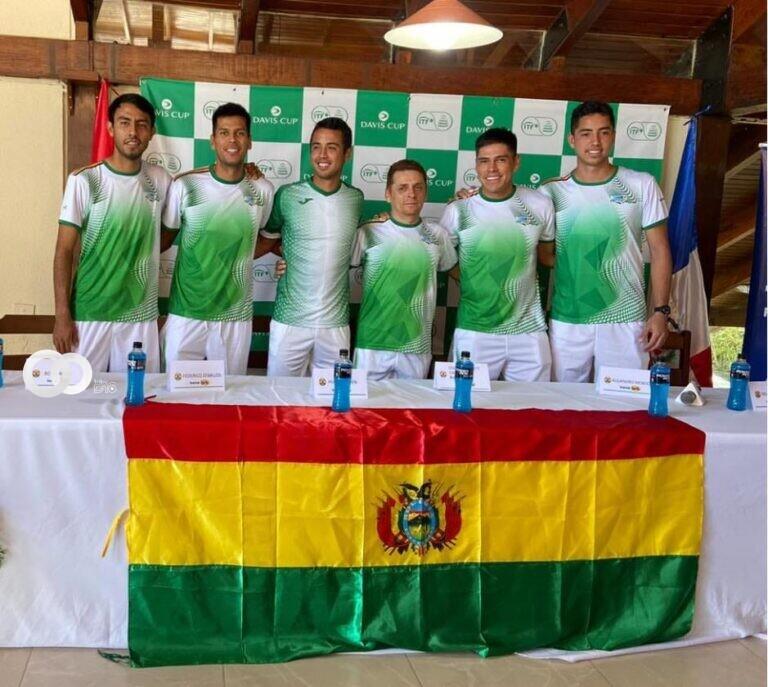Tenistas bolivianos representarán al país en la Copa Davis el 18 y 19 de septiembre