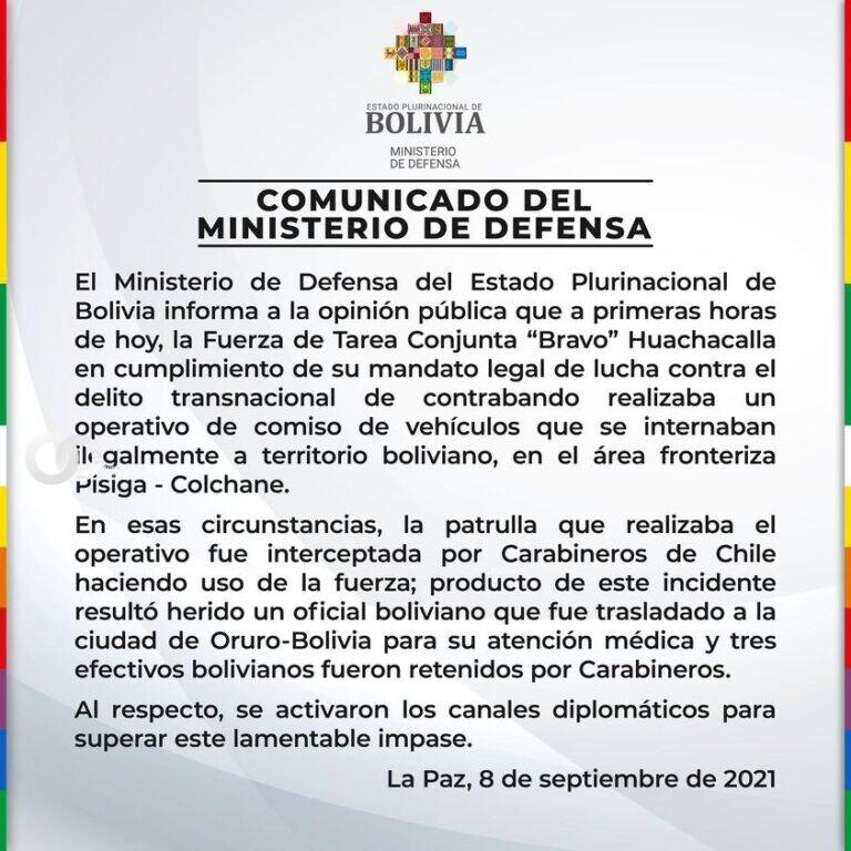 Militares retenidos por carabineros chilenos realizaban operativos contra el contrabando
