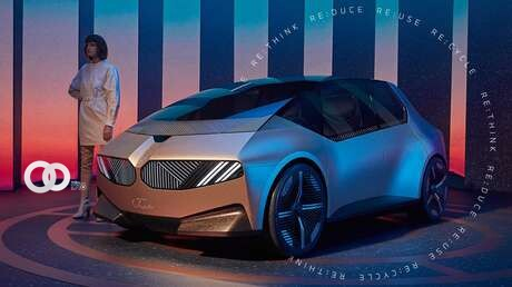 BMW presenta el i Vision Circular, un auto ecológico hecho con materiales reciclados