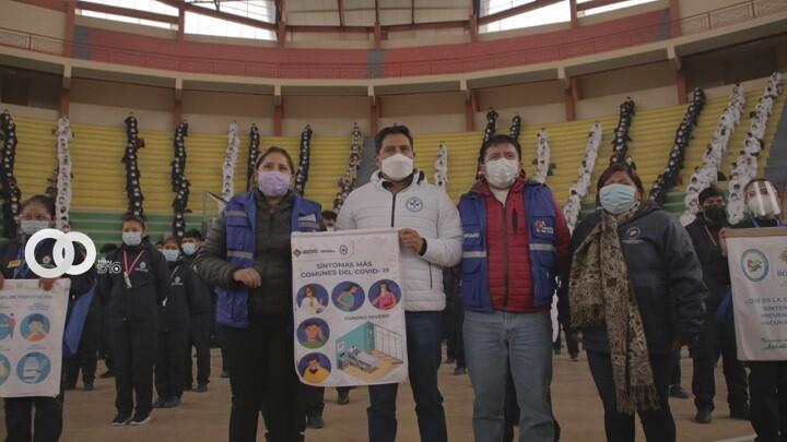 Ministro de Salud entregó equipos de bioseguridad a profesionales en salud de El Alto
