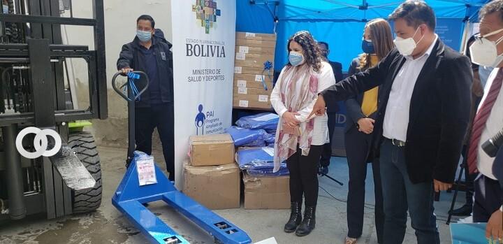 Entregan equipamiento logístico al Programa Ampliado de Inmunización