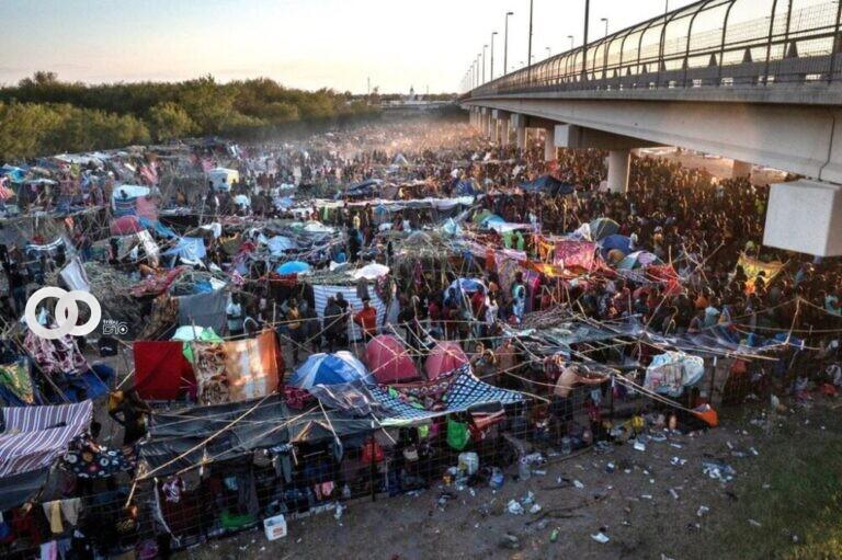 Levantan el campamento de migrantes Haitianos hubicado en la frontera