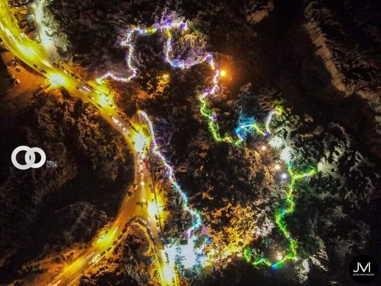 Paseo nocturno del «Valle de la Luna» brindo un recorrido de estrellas y luces