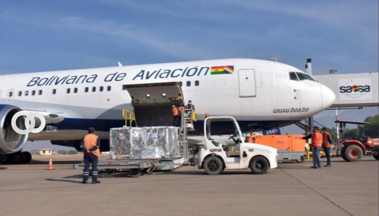 Nuevo lote de vacunas AstraZeneca donadas por España y Francia llegaron hoy a Bolivia