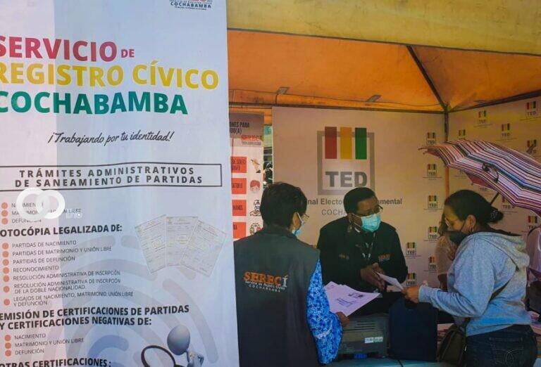 Cochabamba: Serecí participó de ferias interinstitucionales donde realizó servicios prioritarios a la ciudadanía