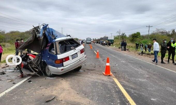 Cuatro personas fallecieron en el accidente de la carretera Santa Cruz Camiri