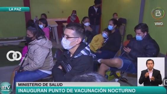 Abren punto nocturno de vacunación anticovid para extrangeros de La Paz
