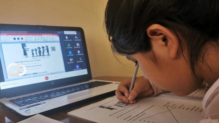 Menos del 50% de las unidades educativas del país pasan clases virtuales