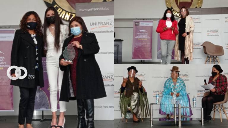 El Alto: UNIFRANZ reconoció y destacó a varias instituciones y mujeres emprendedoras