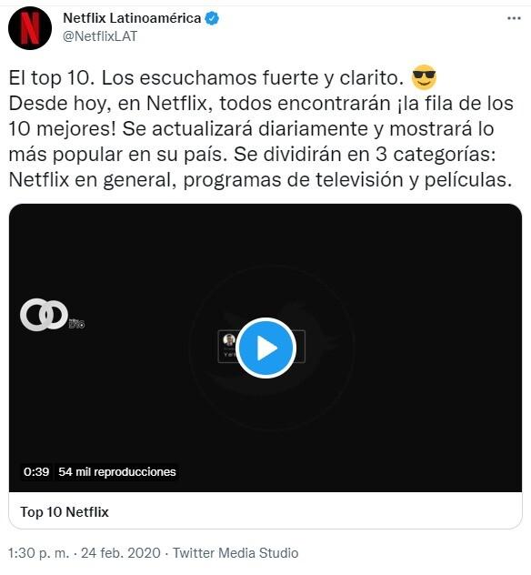 Conoce Top 10 en Bolivia de Netflix