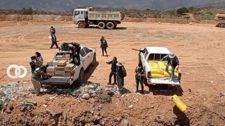 Cochabamba: SENASAG decomisó y destruyó 1.9 toneladas de productos alimenticios