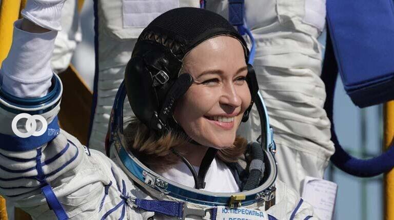 Yulia Peresild, la primera estrella de cine que viaja al espacio