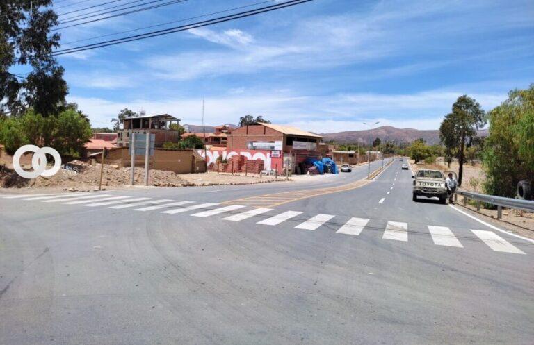 Nueva carretera asfaltada en Cochabamba