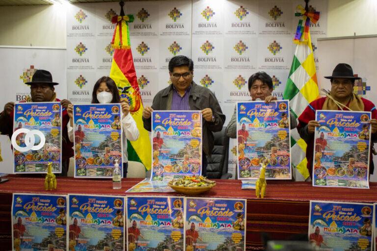 MDPyEP y el municipio de Huatajata invitan a la XVI Feria del Pescado