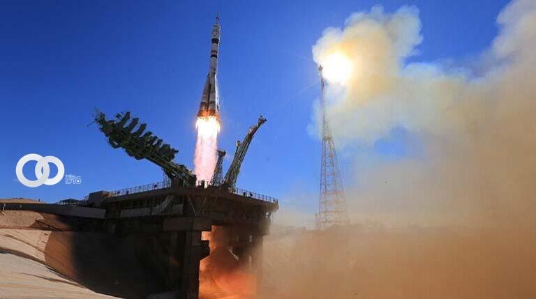 Soyuz MS-19 con actriz y director de cine rusos despega rumbo a la EEI